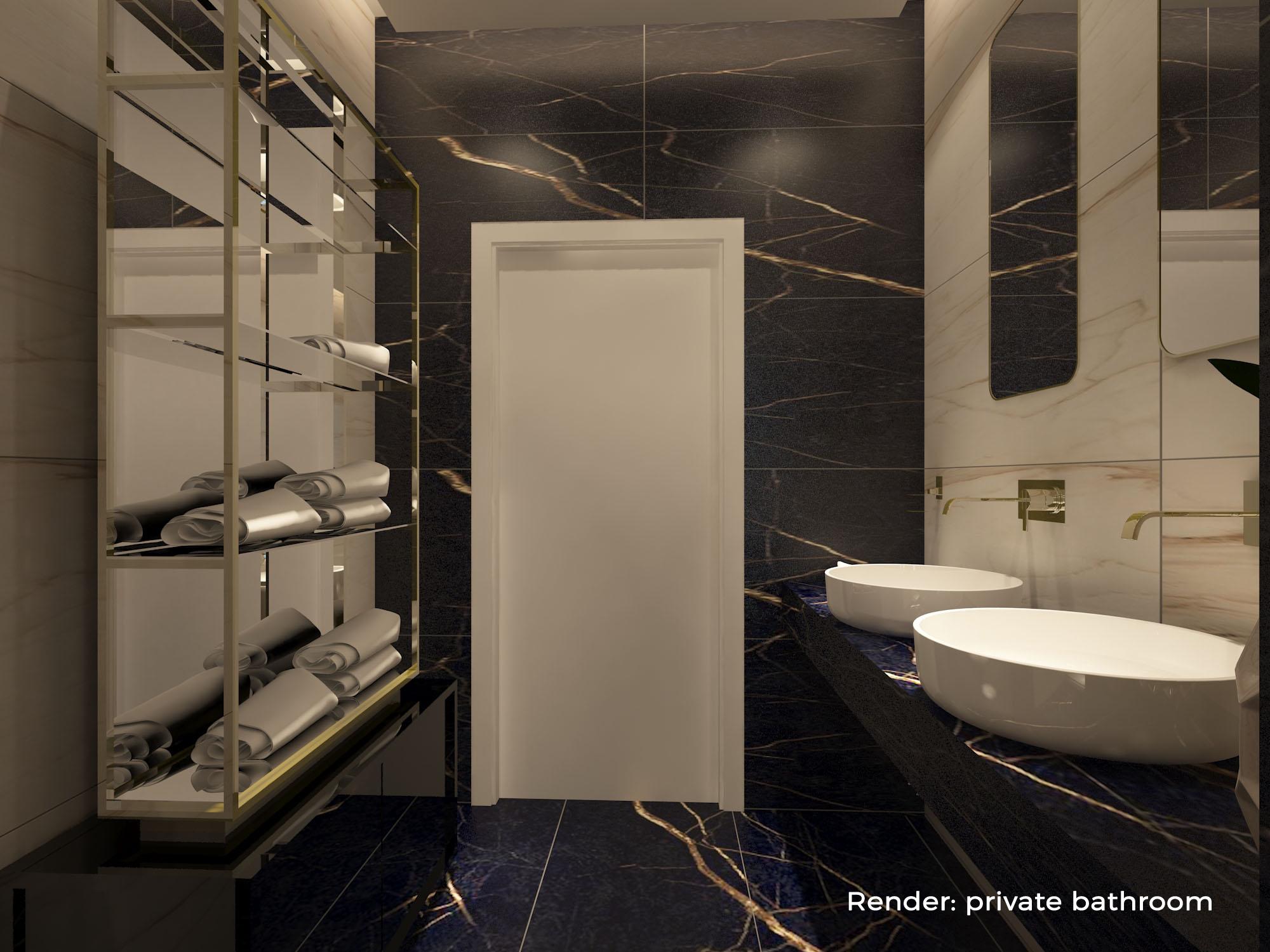Render: private bathroom